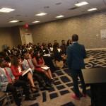 Sammi Haynes presenting to HBCU Kings & Queens
