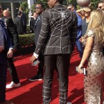 Donovan Mitchell Look from the Back with spike Christian Louboutin white sneaker